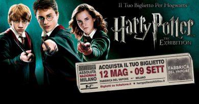 A Milano la mostra su Harry Potter. Alla Fabbrica del Vapore fino al 9 settembre
