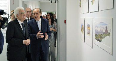 Il Presidente Mattarella in visita alla Fondazione Roma e Fondazione Terzo Pilastro